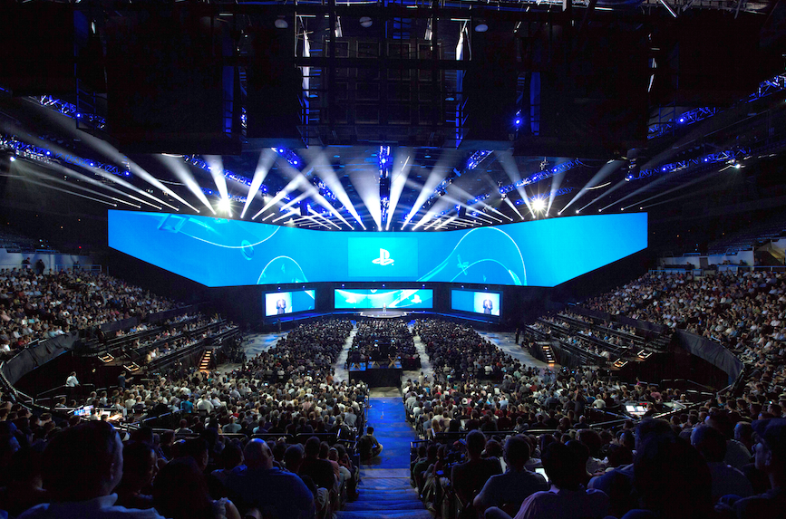 90 West Group provides full production services to Sony PlayStation for their Live Events.  Pictured E3.