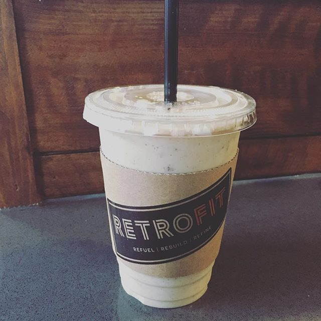 Have you tried our organic Vanilla Date  protein smoothie yet?...you won't regret it! . . .#healthyeats #healthytreats #healthychoice #retrofitcafe #retrofitcommunity