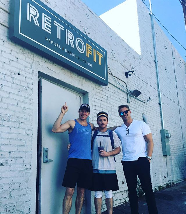 Thank you to @mrkevinconnolly for rocking the RetroFit headband ...& post-workout smoothie! 💪 . . . . .#retrofitweho #retrofitcommunity #retrofitcafe #fitnessfamily #fitnessgoals