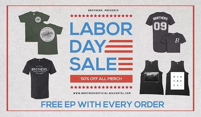 50% OFF ALL MERCH, NOW THROUGH MONDAY + FREE EP WiTH EVERY ORDER. Don't miss out on this great deal! 🤘🏻 Link in Bio