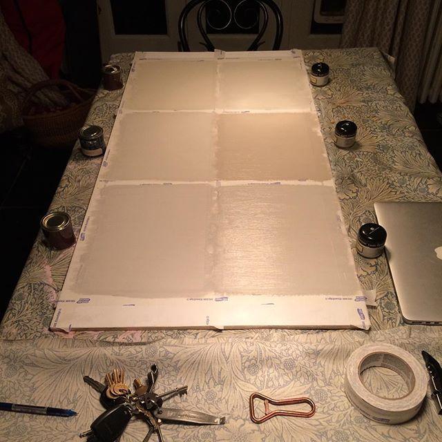 Next board nearly ready #littlegreenpaintcompany #farrowandball #paint&paperlibrary