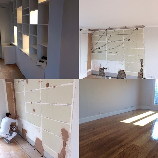 We normally paint joinery, this time removed, made good walls, matched skirting & coving #disappeared #neverthere
