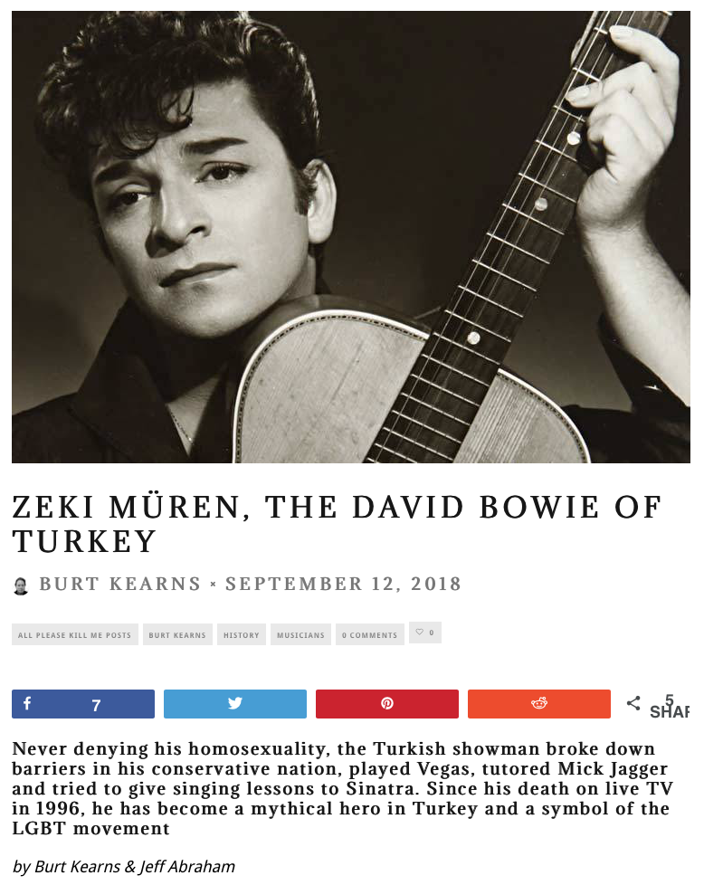 Zeki Muren, The David Bowie of Turkey 9.12.18