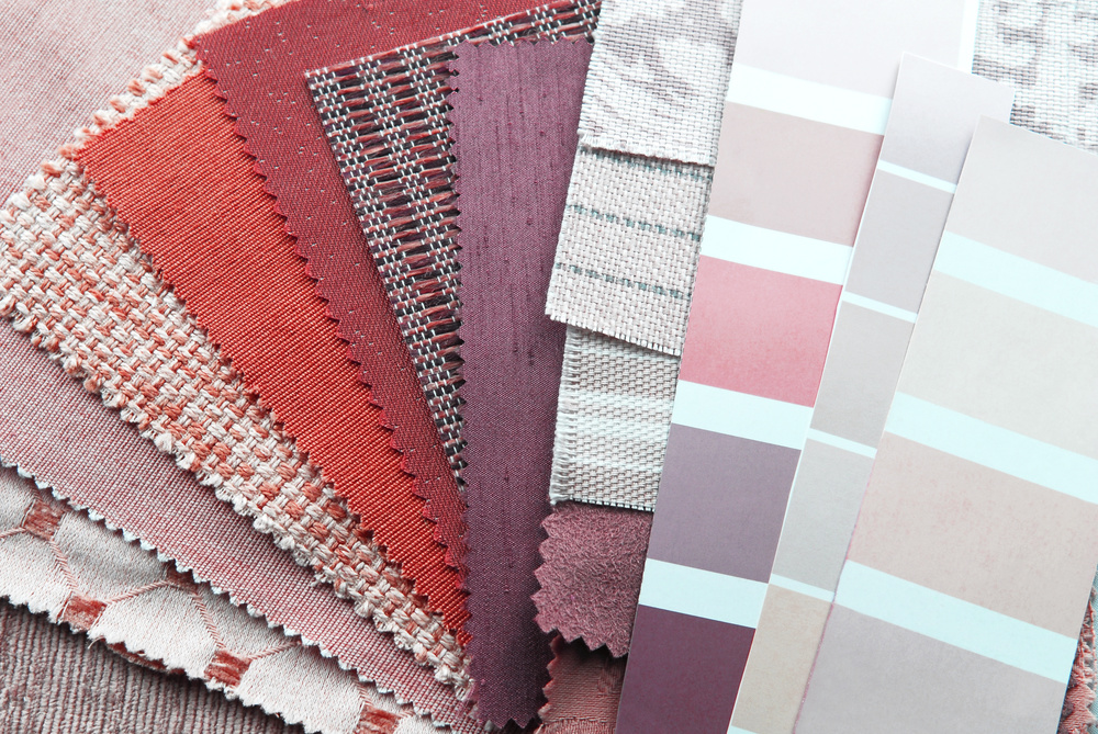 Fabric and paint selections enhance the overall aesthetic through pretty color combinations.