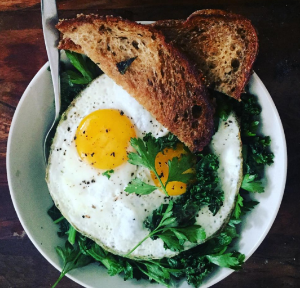 kale + eggs