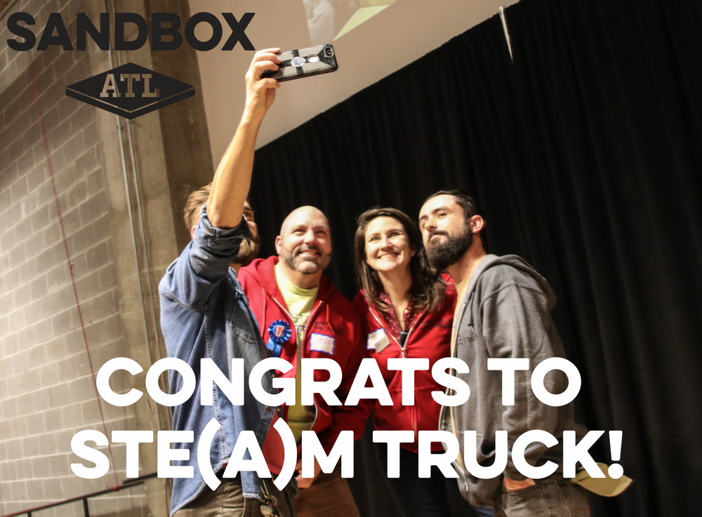 Winners of GiveTheGarage! Quite fitting for a non profit truck-based mobile makerspace!