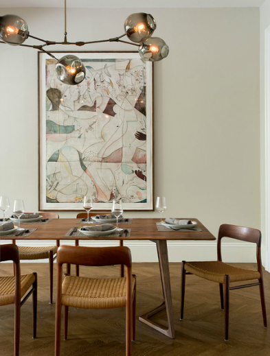 Mid-Century Dining Room by Tanya Capaldo via leenB.com