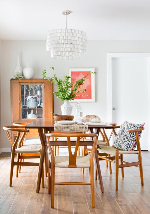 Mid-Century Mod Boho Dining Room by Becca Stephens on leenB.com