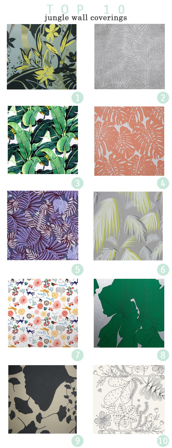 Top 10 Jungle Wallcoverings from leenB Design Studio