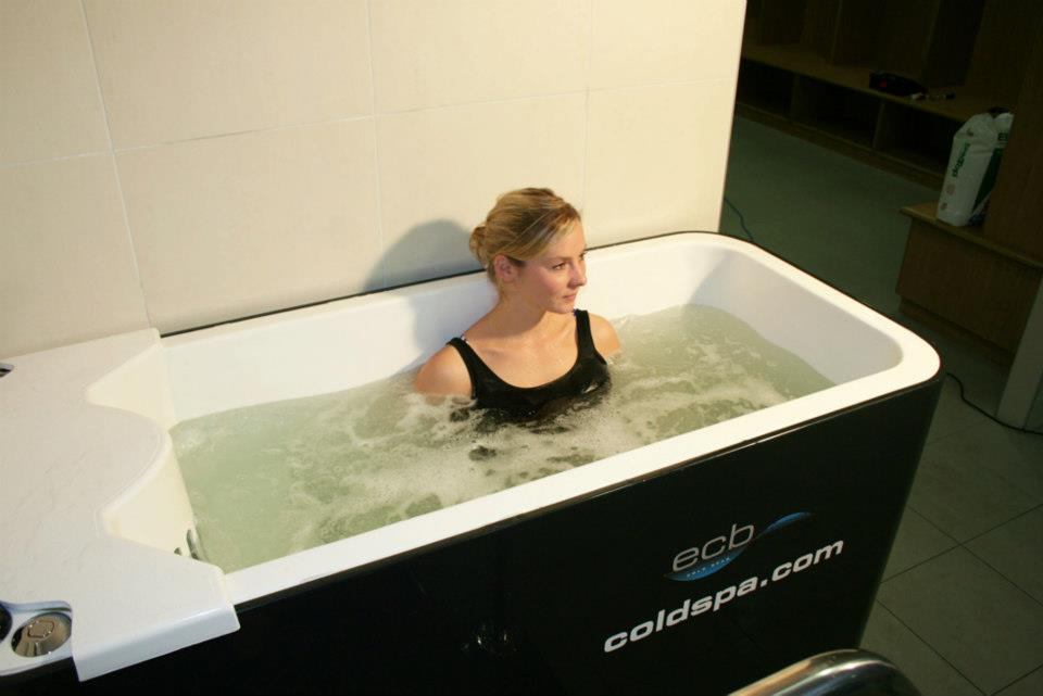 The Ice Bath is designed to allow the user to either sit, stand or plunge