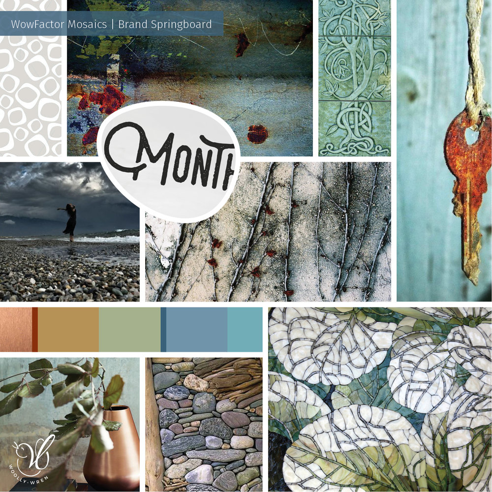 Moodboard for WowFactor Mosaics