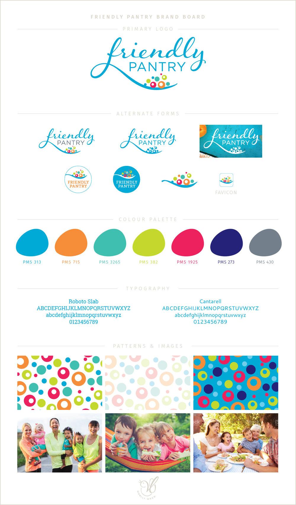 friendly pantry brand board
