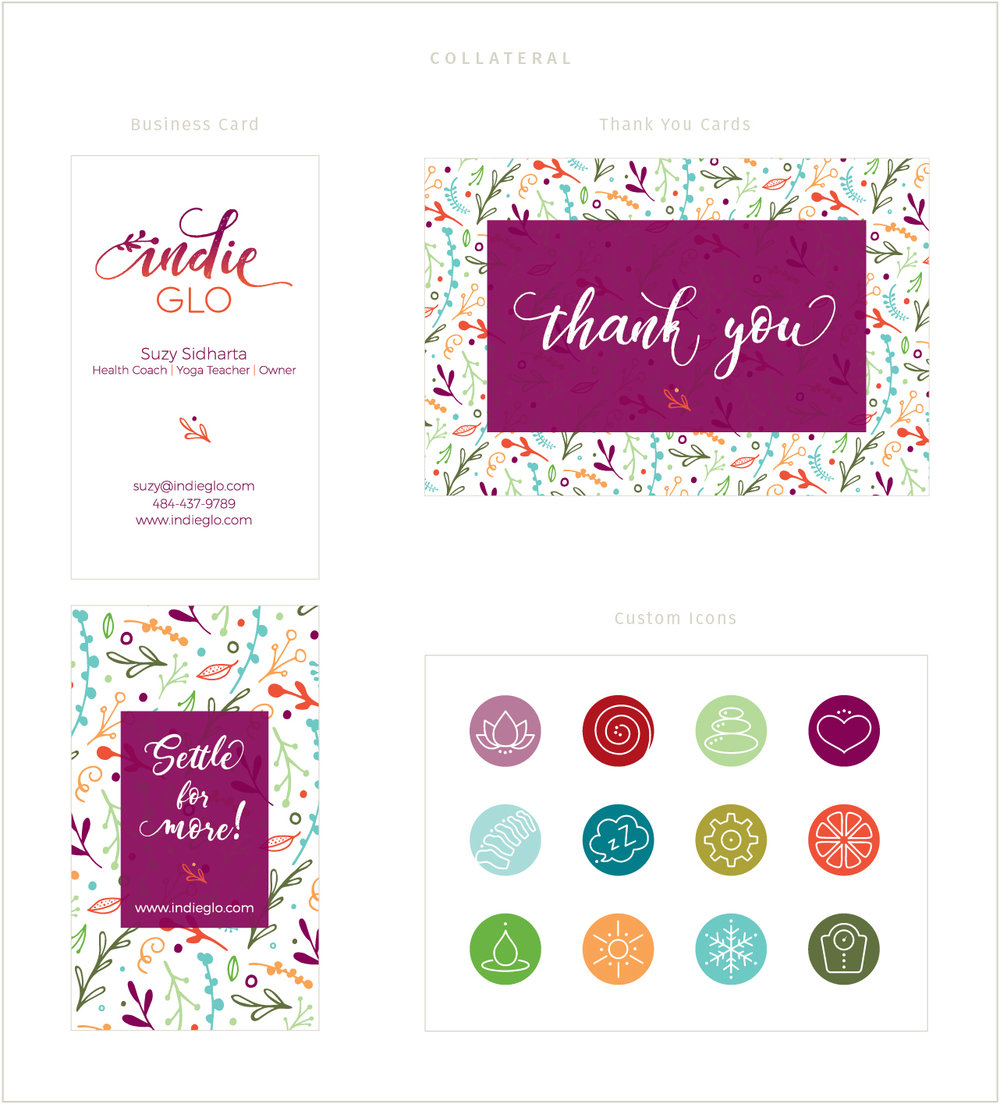 Custom collateral designs for indieGlo