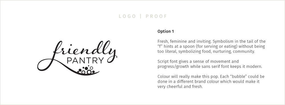 friendly pantry logo proof