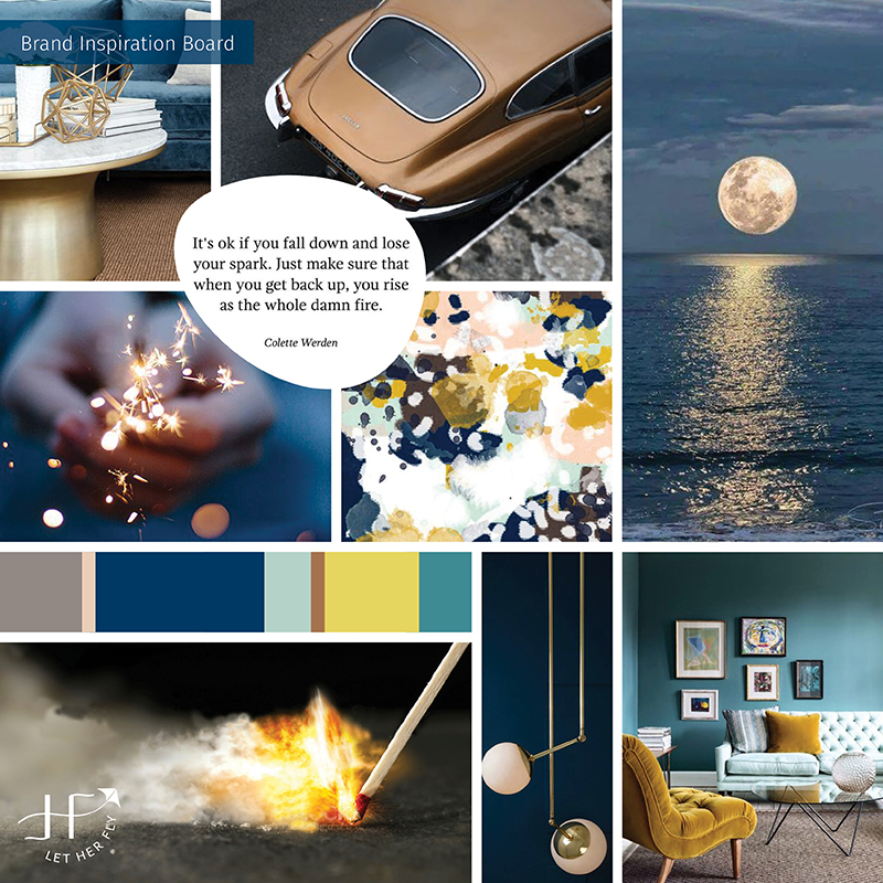 design inspiration board client right