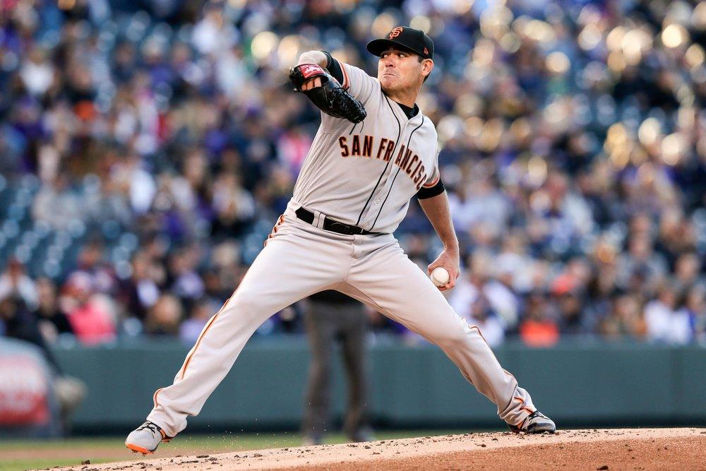 Matt Moore on the mound.