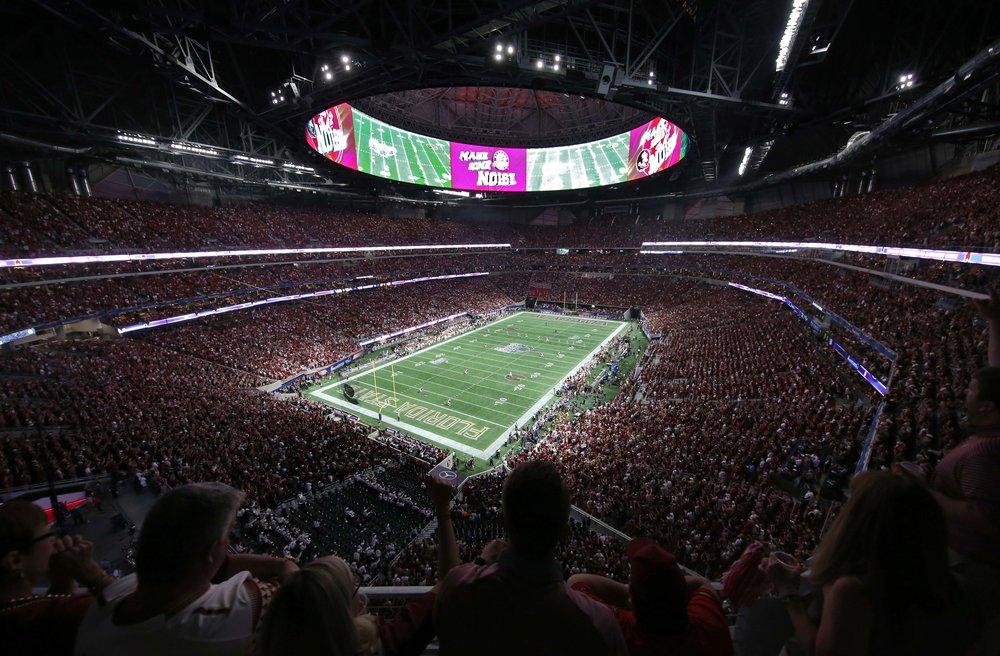 Mercedes-Benz Stadium, home of 2017 MLS expansion team Atlanta United.