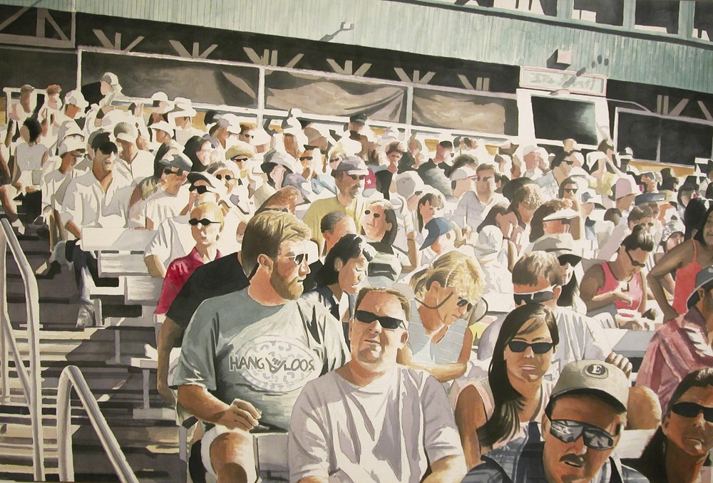Sea World Crowd, 2003, acrylic on canvas, 40 x 60 in.