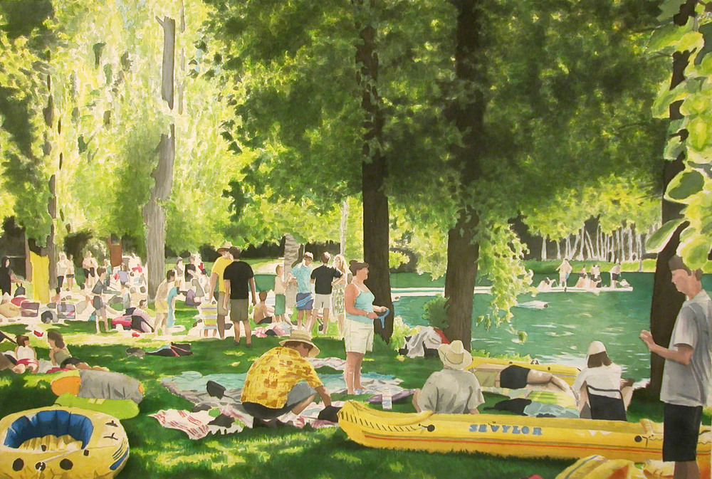Lakeside, 2003, acrylic on canvas, 36 x 48 in
