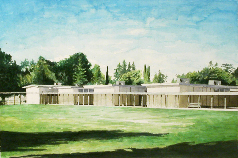 Jr. Highschool, 2002, watercolor, 12 x 18