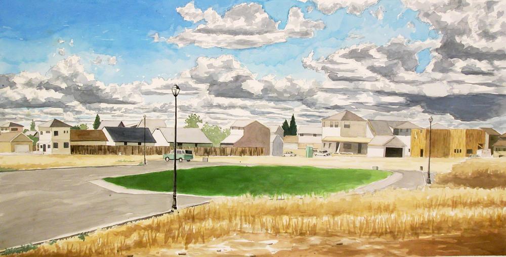 Suburban Landscape, 2003, watercolor & acrylic, 38 x 56.jpg