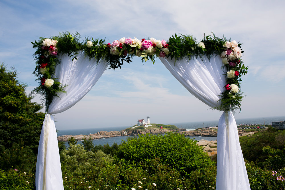 Malloy Events | New England wedding florist | Tented oceanside wedding