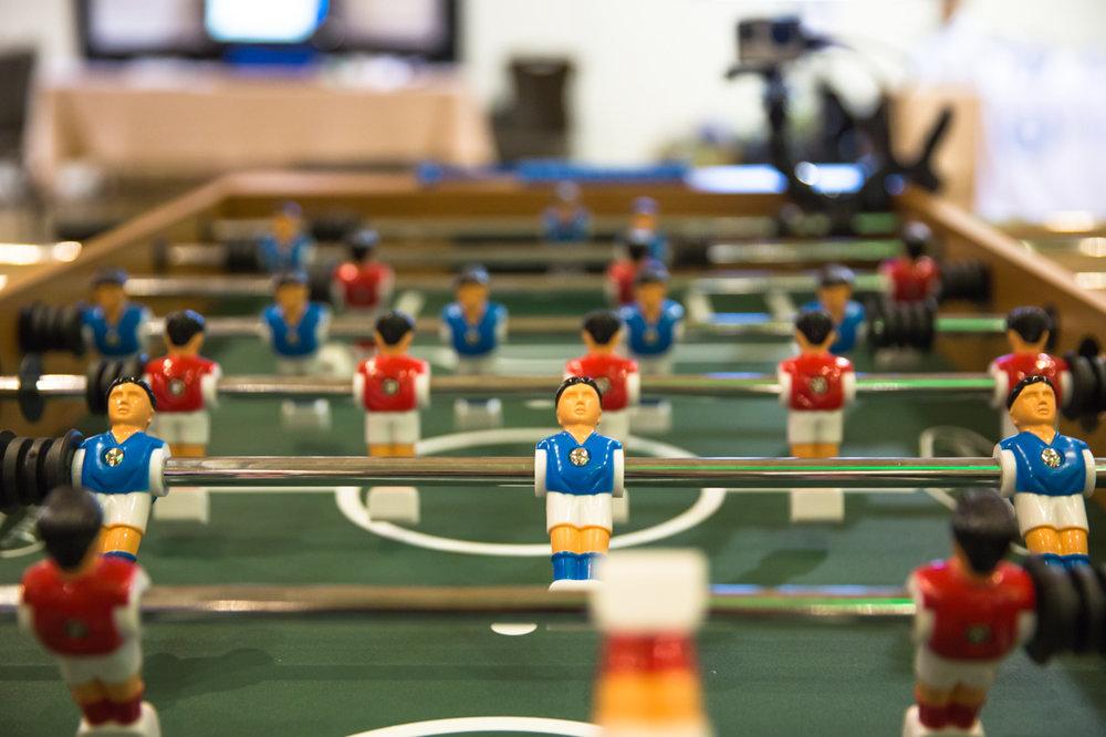 Foosball arcade games.
