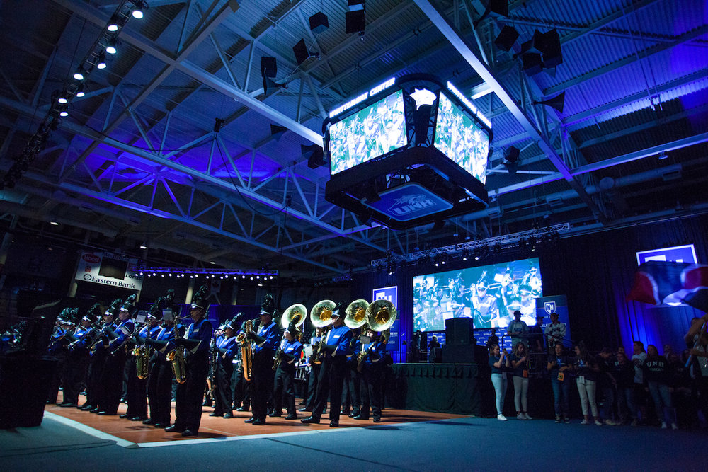 UNH Marching Band performs