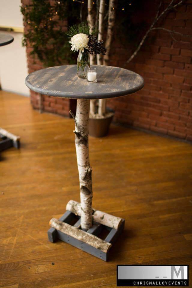 Custom birch tables