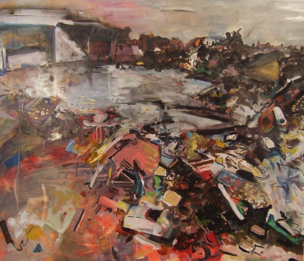 """Tornado Debris""  Oil/Board  36""x42"""