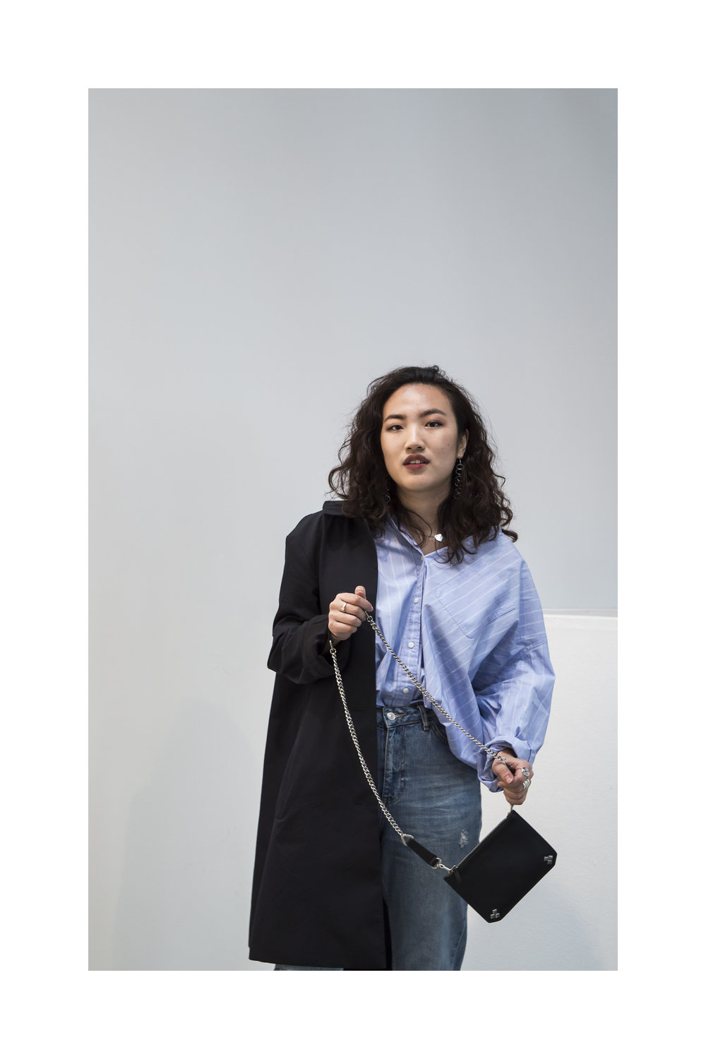 Rebecca Wears:  Bag-  The Changing Factor   Coat-  COS