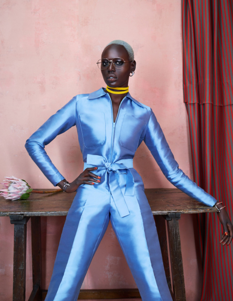 Photographer: Ed Singleton Stylist: Solange Franklin Editor: Irene Ojo-Felix Hair: Sirsa Ponciano Make Up: Laura Stiassni Nails: Yukie Miyakawa Set Design: Lizzie Lang Photography Assistants: Max Bernetz & William Takahashi Stylist Assistant: Kyle Hayes & Kristina Taylor Digital Tech: Matthew Thompson Models: Ajak Deng & Maria Borges @ IMG (New York) Retouching – Silhouette Studio
