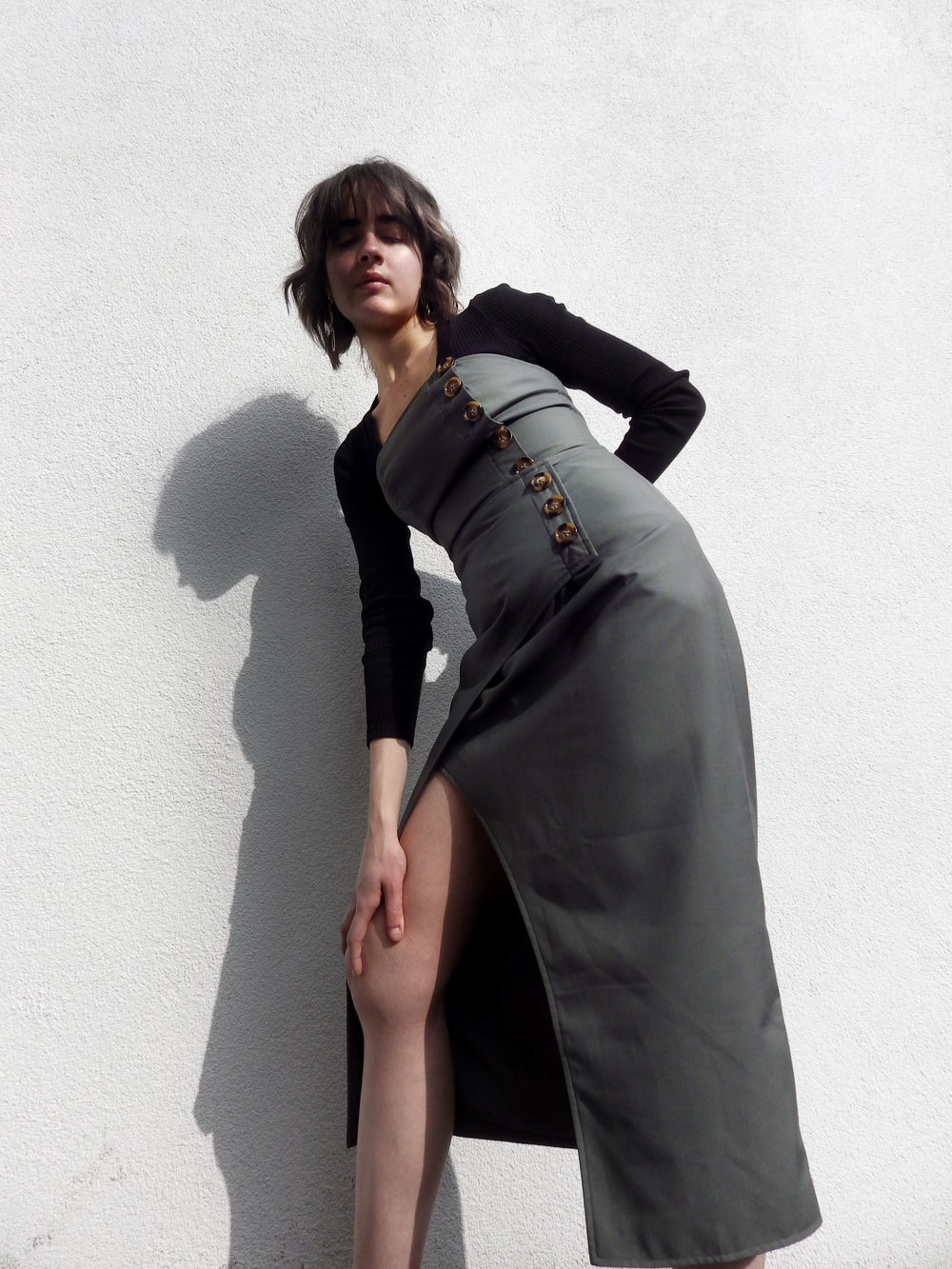 Melissa Wears:  Definitive Top Khaki by  C/MEO Collective   Definitive Skirt Khaki by  C/MEO Collective