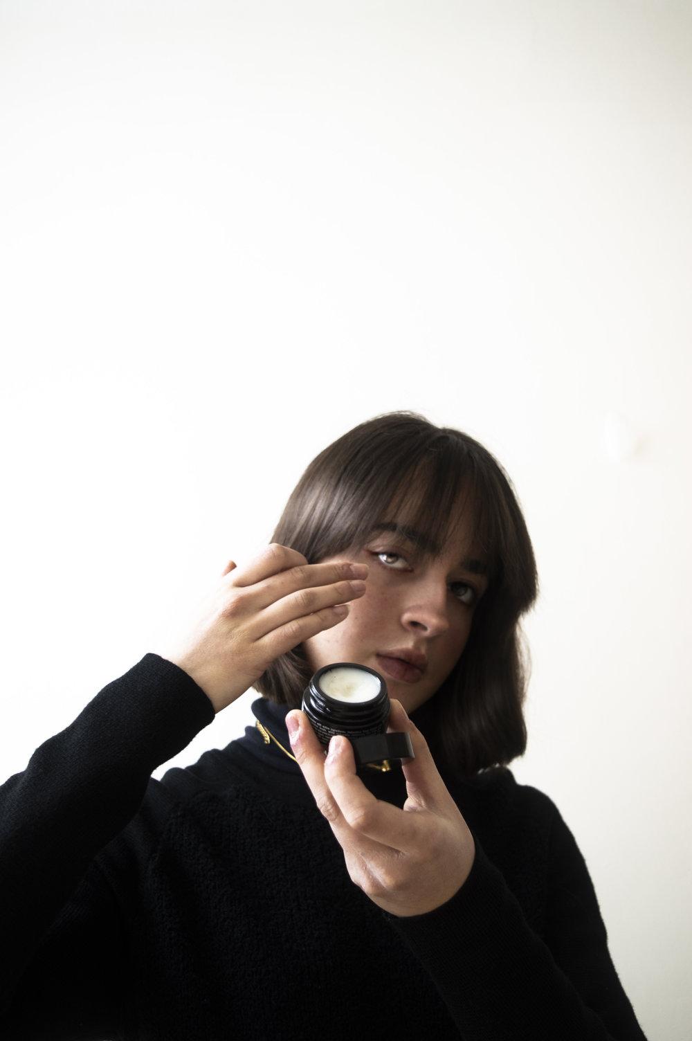 Melissa is using:    The Hydra Repair Eye Balm- Grown Alchemist