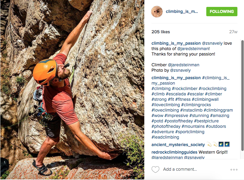 Climbing_is_my_passion Instagram Feed, September 2015