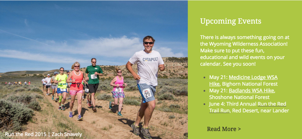 Wyoming Wilderness Association Website, May 2016