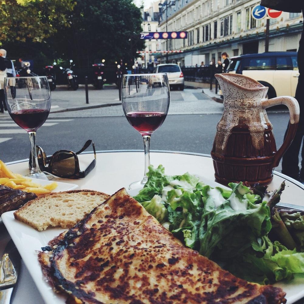 The best  croque monsieur  at Au Babylon Cafe.