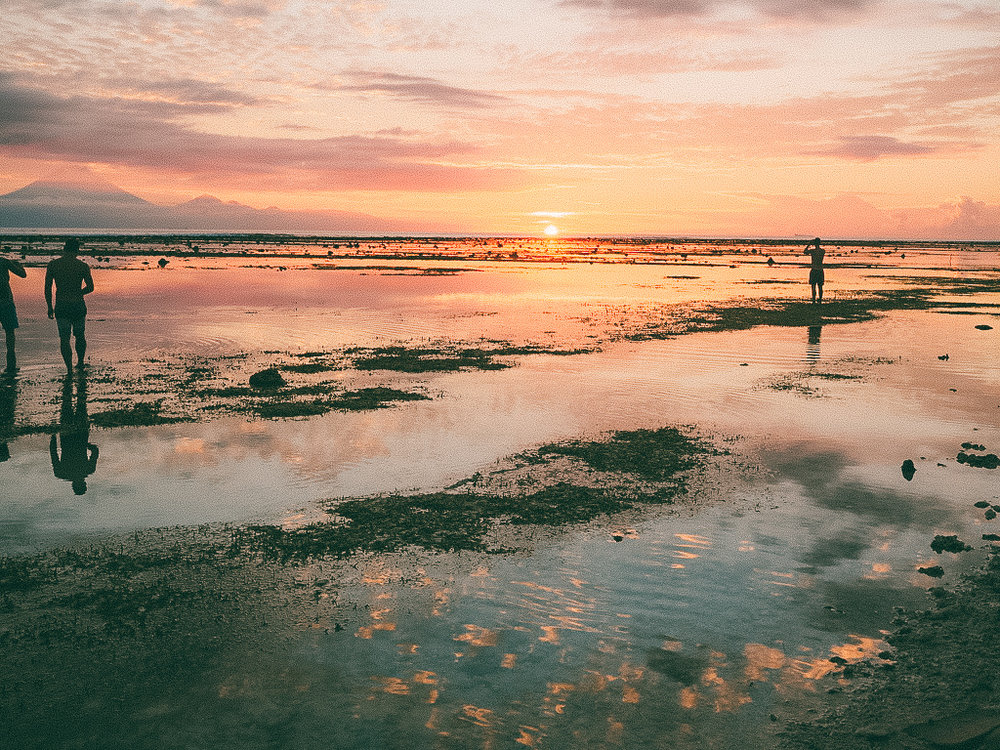 Sunsets are breathtaking in the Gili's