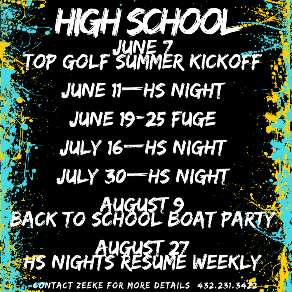 CHECK OUT ALL THE SUMMER ACTIVITIES FOR HIGH SCHOOLERS.