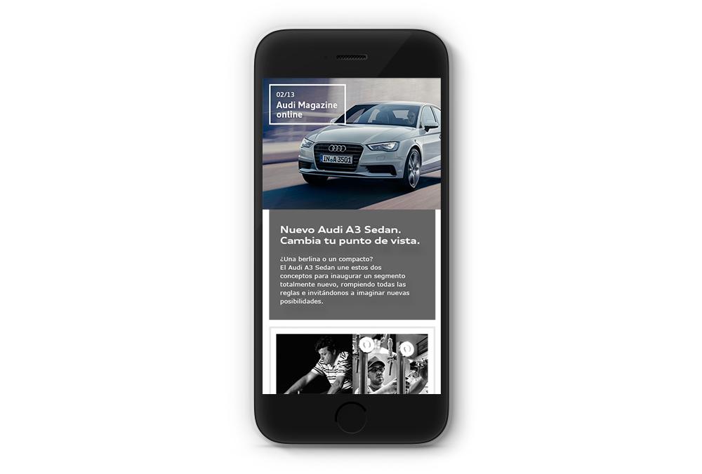 Audi magazine mobile email
