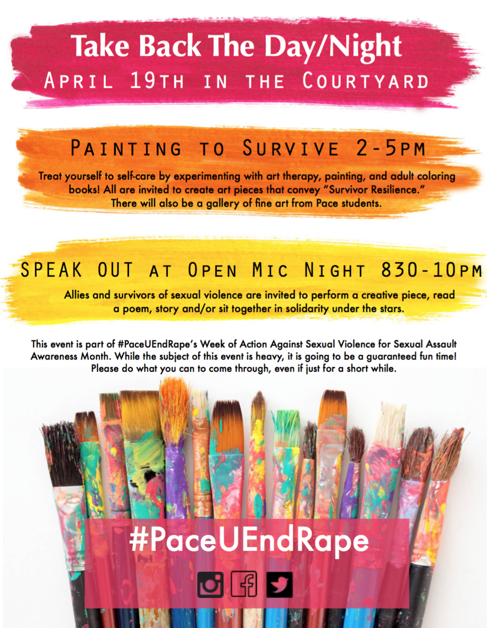 Flyer for Pace University