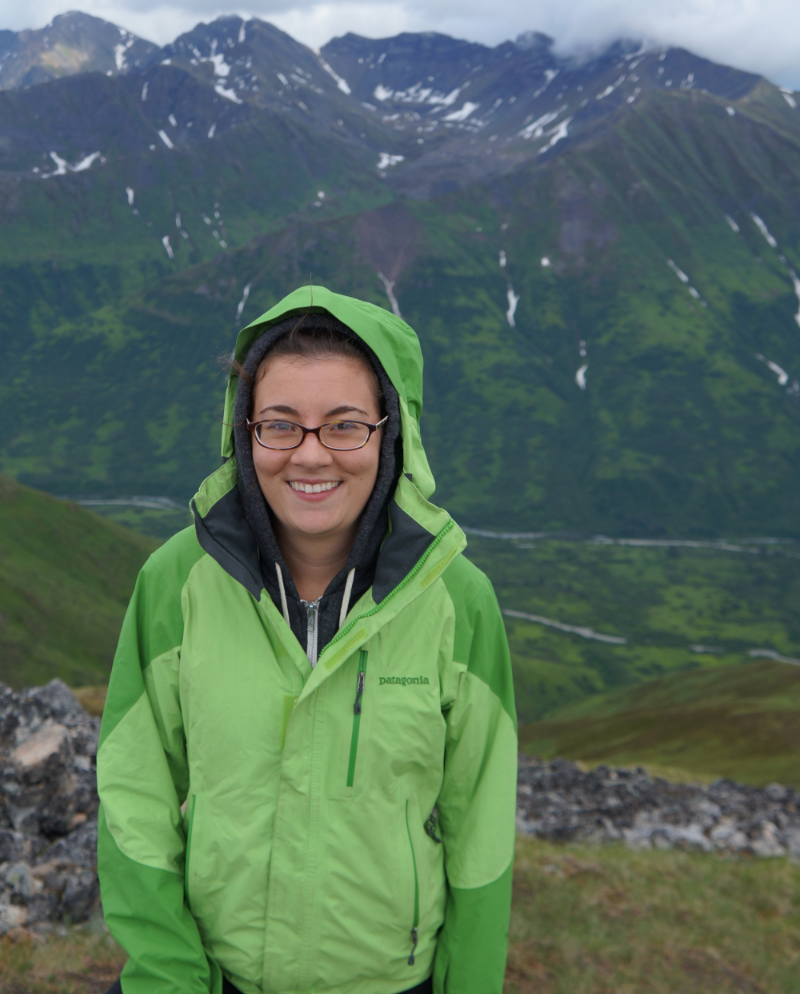 Claire in the mountains of Alaska