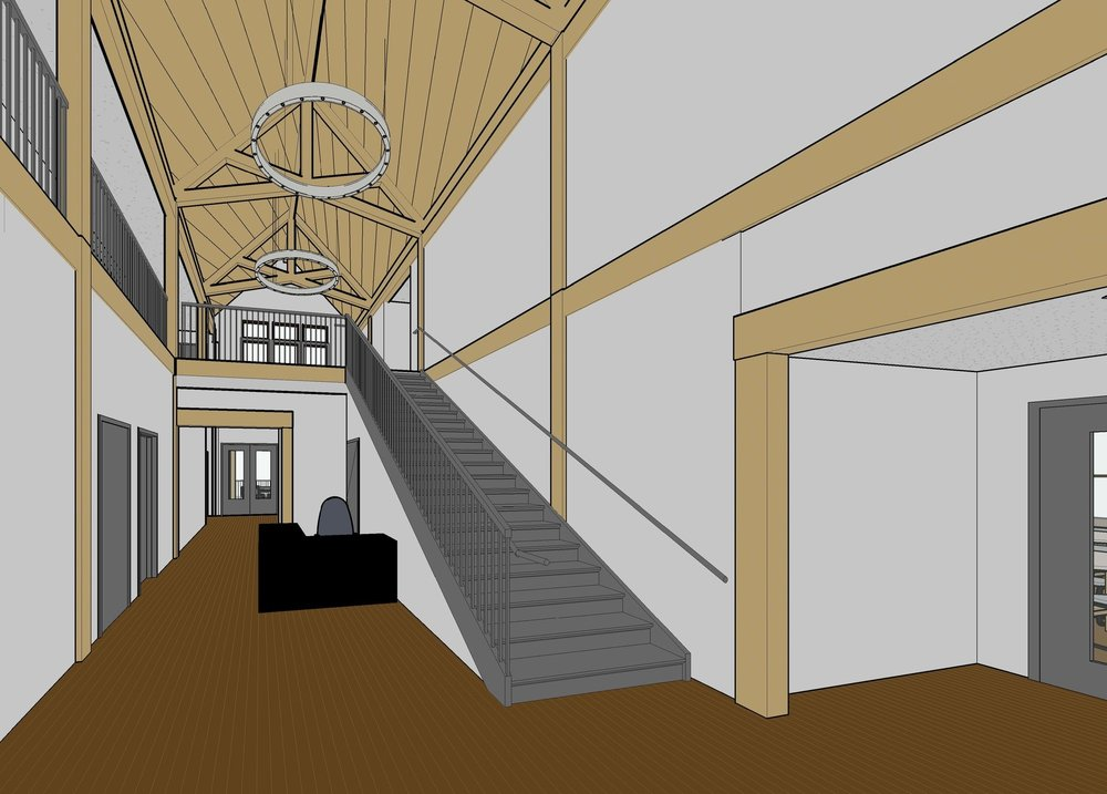 Rendering of Clubhouse interior