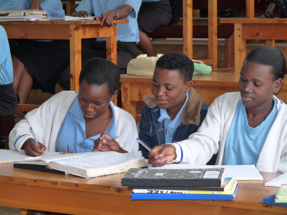 Nursing students in class at Mengo SON.
