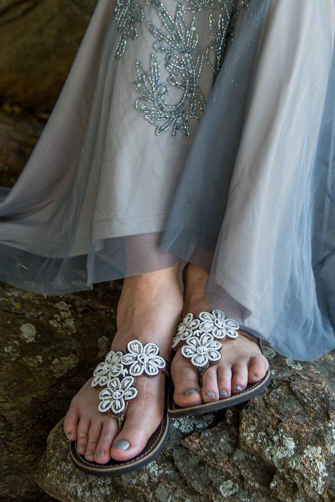 Lovebirds as our beautiful bridal shoe,