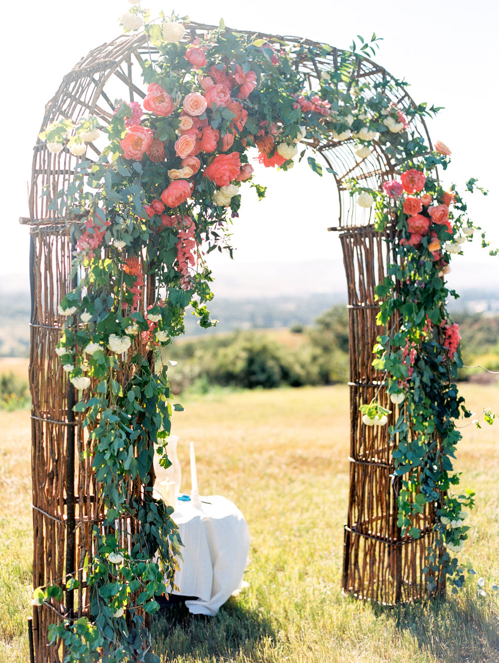 Willow Arch with Asymmetrical Florals