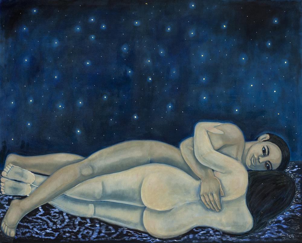 """El manto de la noche. 1998. Óleo sobre tela. 56 x 70"""".JPG"""