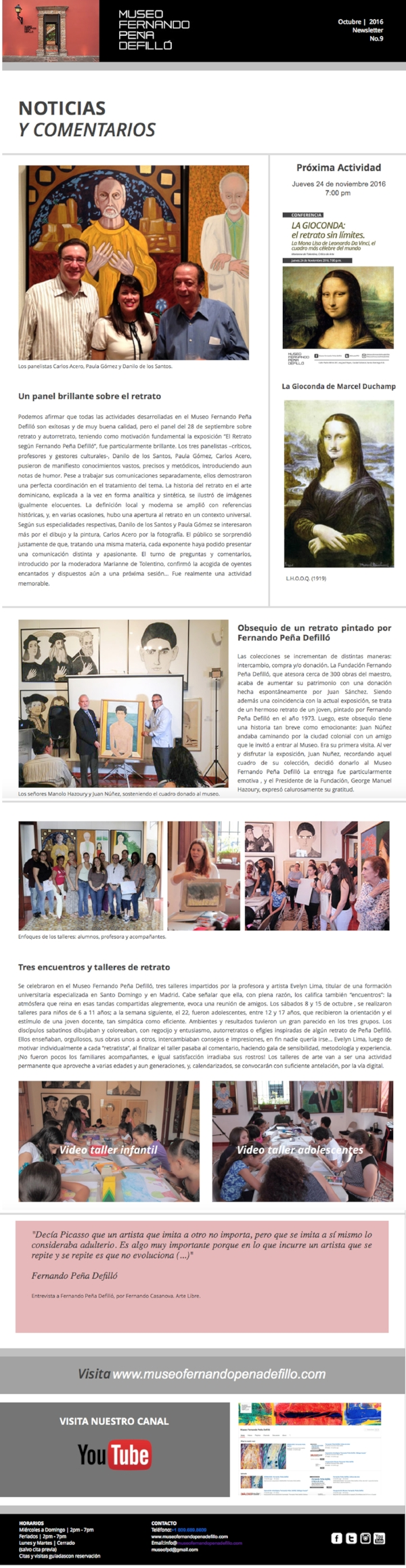 Newsletter Octubre 16
