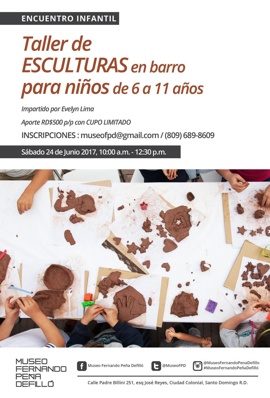 2017-06-24 Poster Taller infantil escultura barro.jpg