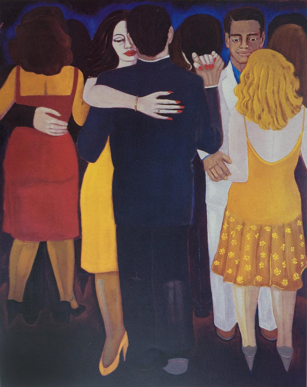 """Bolero (1998) Óleo sobre tela. 70 x 56"""" Colección Dirección General de Aduanas"""